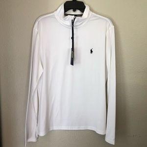 Ralph Lauren White Long Sleeve Pullover 1/4 zip